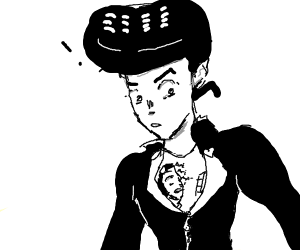 Bucciarati in one of Josuke's shirt zippers