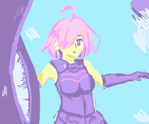 Pink haired anime character
