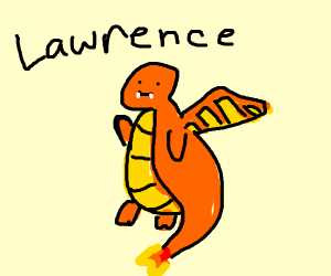 Charizard named Lawrence