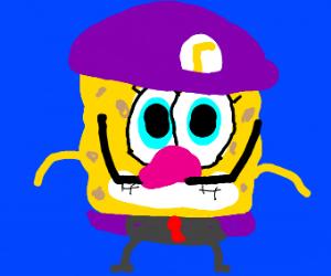 waluigi sponge bob