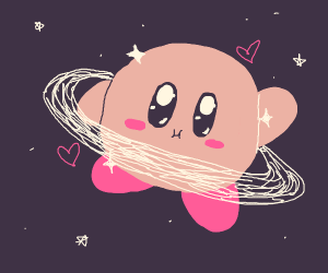 Kirby as a planet