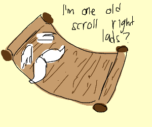 Ancient Scroll looks his age with mustache