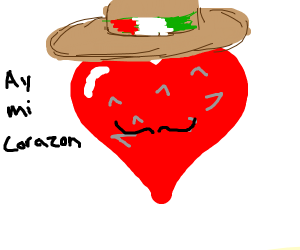 Mexican Spiky Heart