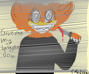Garfield wants lasagna