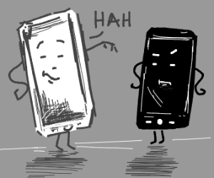 White phone thinks is better that black phone