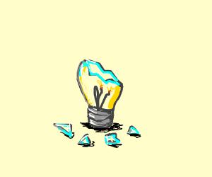 broken lightbulb