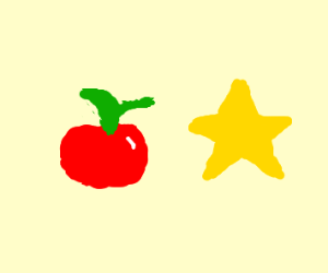 You have a apple you have a star