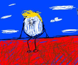 Donald Trumpty Dumpty Sat on His Wall