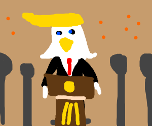 Sad Eagle Trump