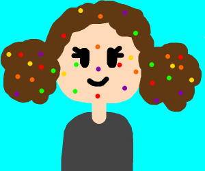 Girl with Skittle disease