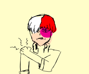 Todoroki has a sore shoulder