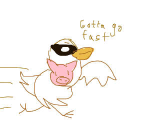 Duck Robs Pig or litterally anything but rob