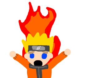Naruto on fire