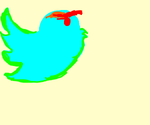 Twitter bird is really angry