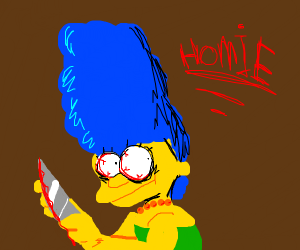 marge simpson prepares for serial homocide
