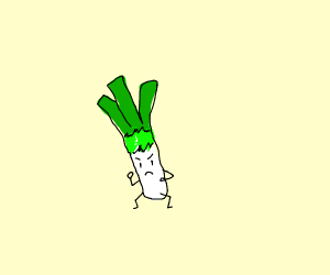 Leek in fighting stance