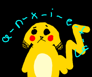 pikachu suffers a anxiety attack