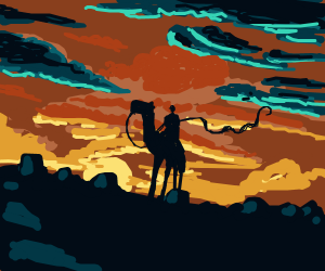 watching the black sunset