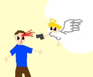 Angel shoots man