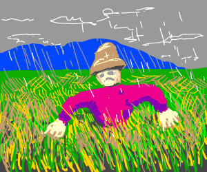 Depressed scarecrow