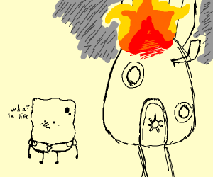 spongebob contemplated life while house burns