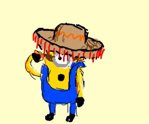 minion wearing a sombrero