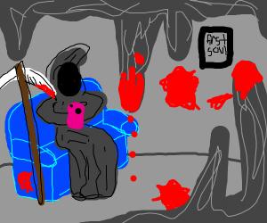 The grim reaper in his lair
