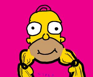Homer's head never skips leg day