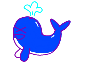 A happy blue whale XD