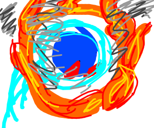 sonic going through a ring of fire