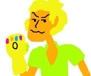 Shaggy with infinity gauntlet