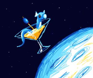 dratini martini jumps over the moon