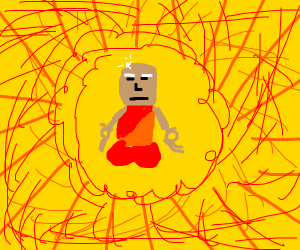 Mr Clean becomes a Buddhist Monk