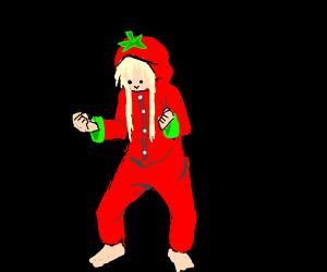 Tomato anime girl