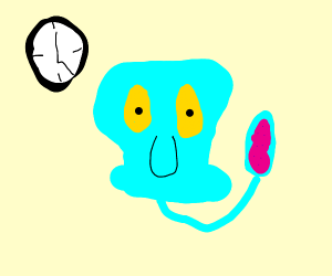 Its squidwards-head-hand time!