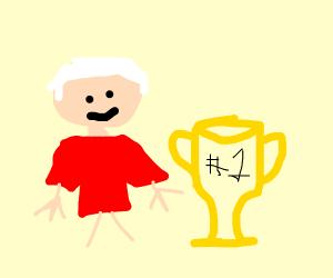 My grandpa wining some award