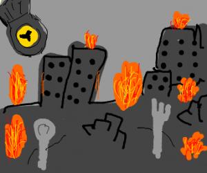 apocalyptic battle of utensils