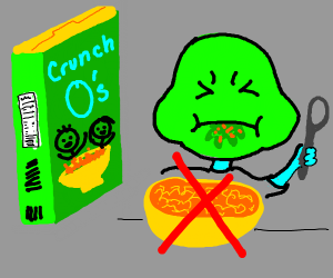 inedible cereal