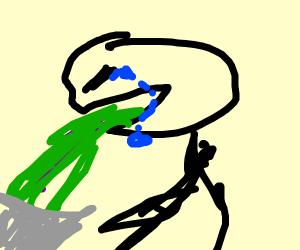 Guy vomitting