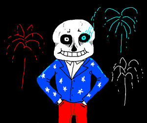 Happy Fourth of July Sans