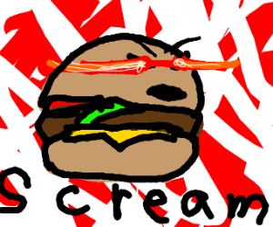 screaming hamburger