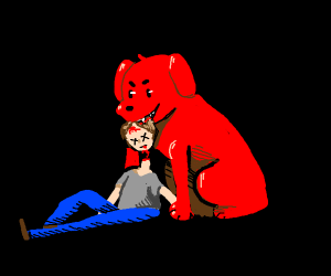 clifford the big red dog commits murder