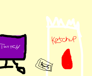 Ketchup texting Livestreamer