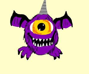 1 eyed 1 horned flying purple people eater