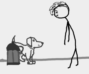 Depressed dog walker