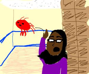 Yeeting crab
