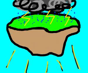 Floaty stormy island