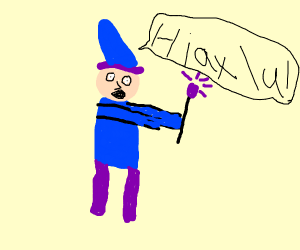 half-naked wizard does a spell epicly