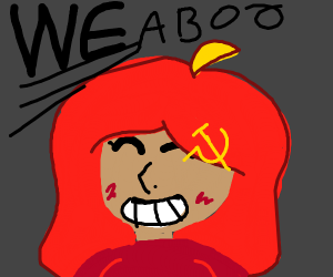 girl with communist hair