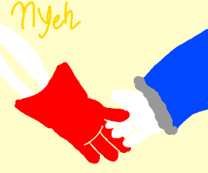 Sans and Papyrus Holding Hands